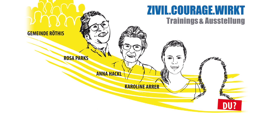 Sujet ZIVIL.COURAGE.WIRKT Trainings & Ausstellung