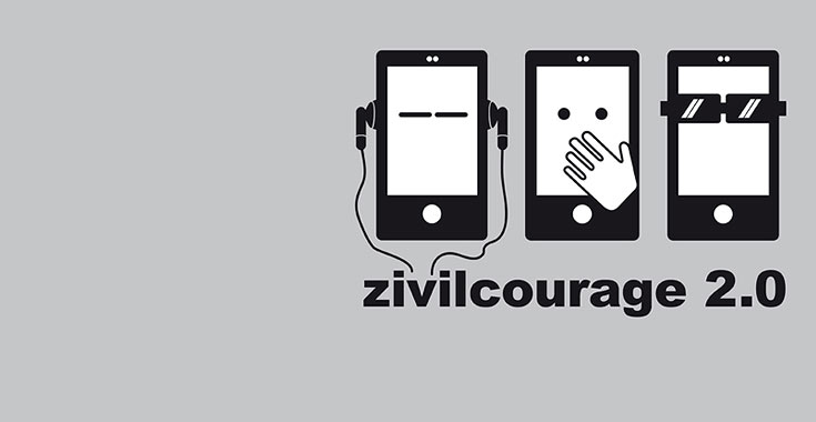 Themenbild Zivil.Courage.Online - Zivilcourage 2.0